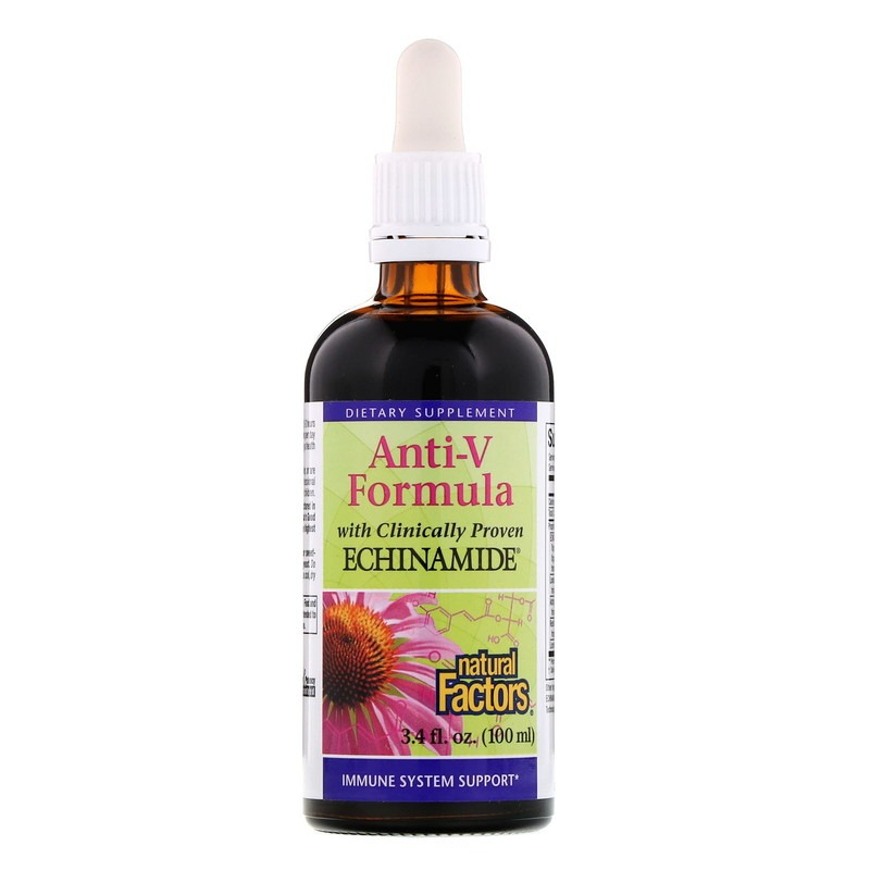 Natural Factors, Anti-V Formula with Clinically Proven Echinamide, 3.4 fl oz (100 ml)