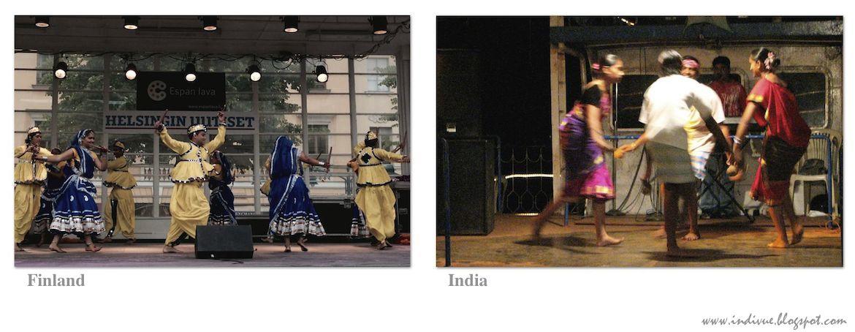Intialaista kansantanssia Suomessa ja Intiassa