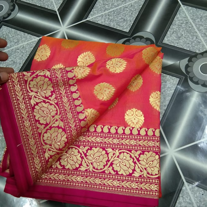 Opara semi katan pure silk saree