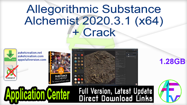 Allegorithmic Substance Alchemist 2020.3.1 (x64) + Crack