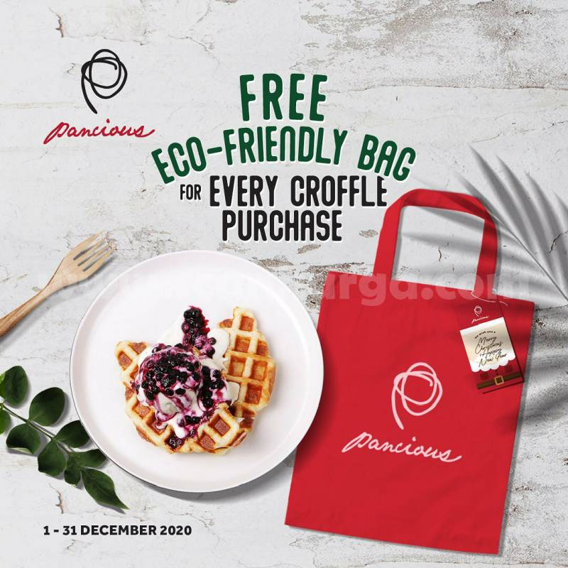Pancious Promo Free Eco-friendly Bag for every croffle Purchase!