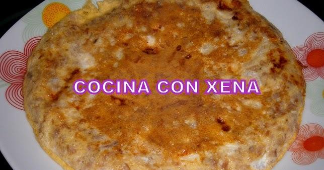 Cocina con xena tortilla de at n y quesitos light en olla for Cocina con xena olla gm d