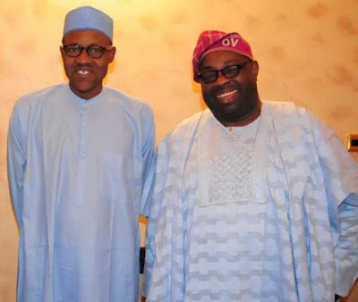 ovation magazine publisher Dele Momodu. AND pRESIDENT bUHARI