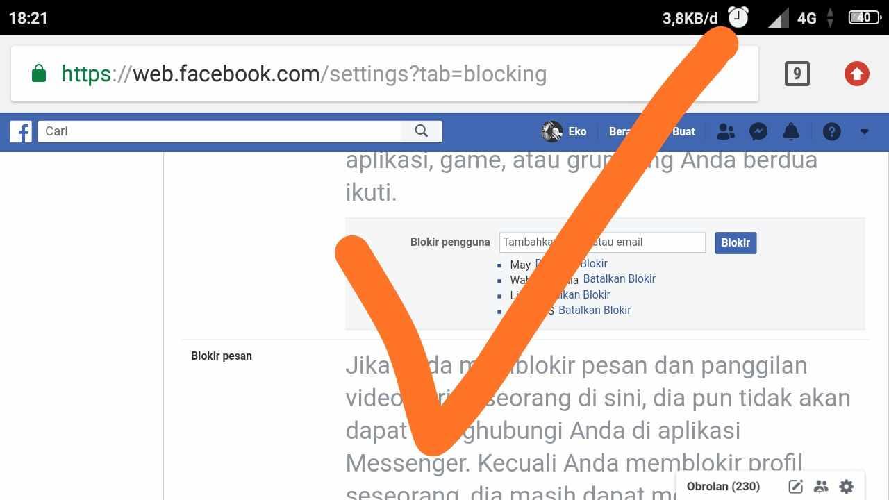 Blocked facebook