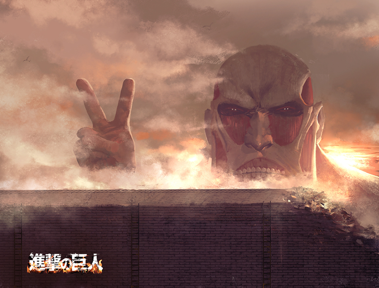 Hd Wallpaper Colossal Titan Peace 0713