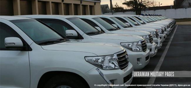 Дежприкордонслужба отримала від США 35 броньованих джипів Volkswagen Amarok та Toyota Land Cruiser