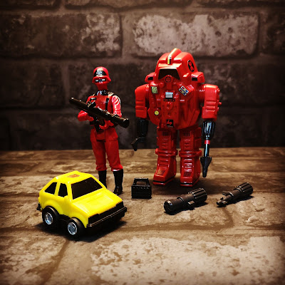 Transformers Bumblejumper Action Force Escape Armour Red Yellow Brick Background