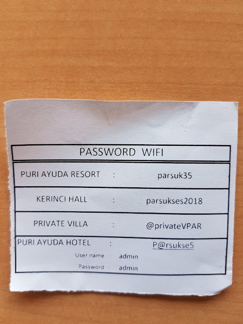 password wiwfi puri ayuda resort