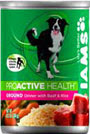 Picture of Iams Proactive Health Adult Ground Dinner with Beef and Rice Canned Dog Food