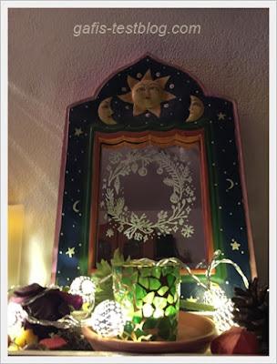 Spiegelmalerei mit Kreidemarker