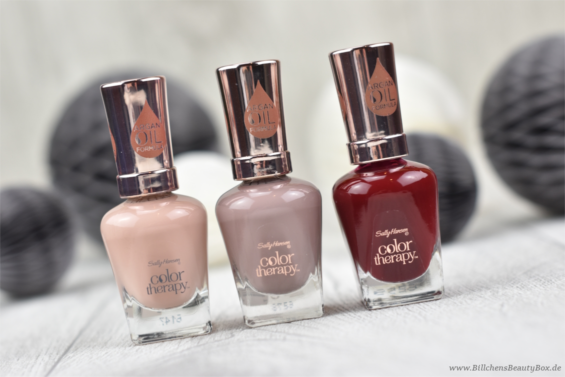 Sally Hansen Nagellack - Color Therapy Kollektion - Review, Swatches und Tragebilder