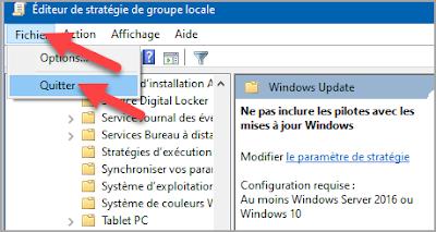 désactiver, arrêter, installation, mises à jour, automatique, pilote, driver, mise à jour Windows, Windows 10, stratégie de groupe locale, gpedit.msc, administration, problème pilote