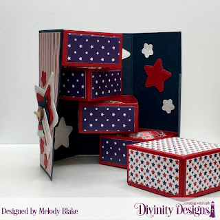 Stamp Set: Treat Tag Sentiments 2, Custom Dies: Treat Tower, Treat Tags, Double Stitched Stars, Paper Collection: America the Beautiful