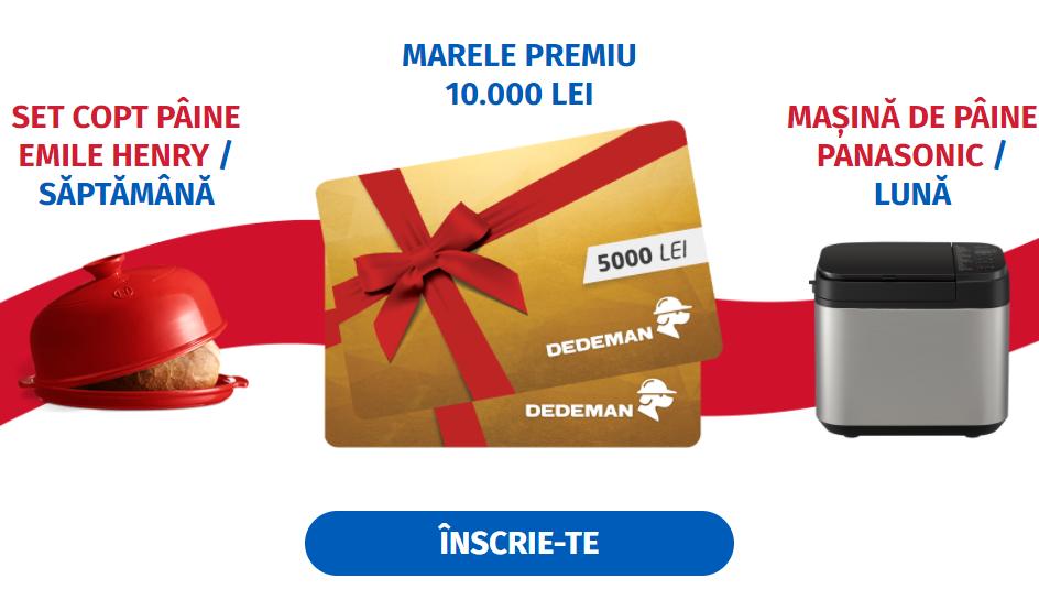 Concurs Pakmaya - Castiga 10.000 de lei - dedeman - bani - concursuri - online - premii - tragere la sorti - castiga.net - 2021