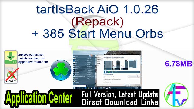 StartIsBack AiO 1.0.26 (Repack) + 385 Start Menu Orbs