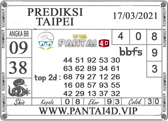 PREDIKSI TOGEL TAIPEI PANTAI4D 17 MARET 2021