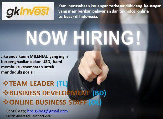 Lowongan Kerja GK Invest Bandung