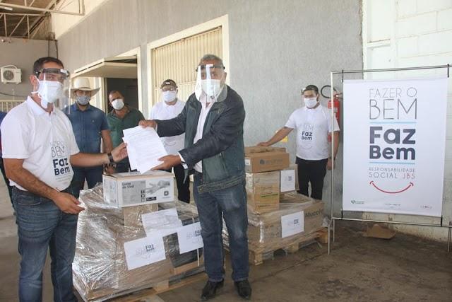 Senador Canedo: Município recebe doação da JBS