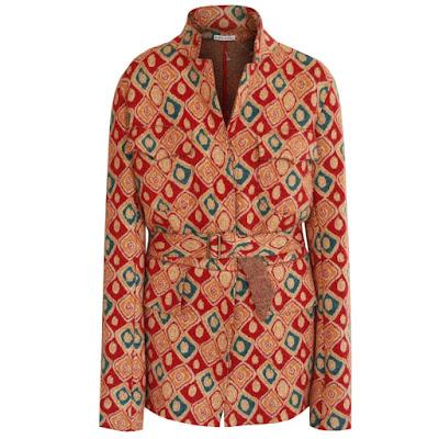 alaia pairs belted virgin wool coat