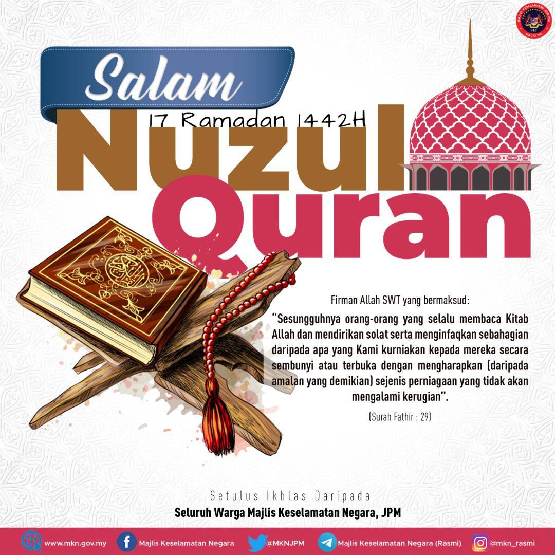 Salam Nuzul Quran 1442H