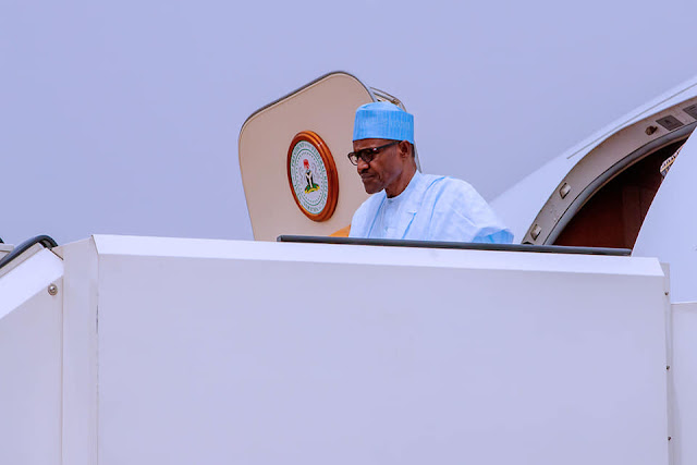 Photos Of President Buhari As He Returns From Abuja From Daura