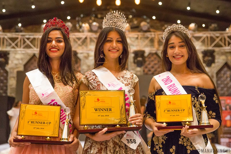 Arshina Sumbul is crowned Elite Miss Rajasthan 2018, 1st runner up is Rubal Shekhawat and 2nd runner up is Navnidhi singh.