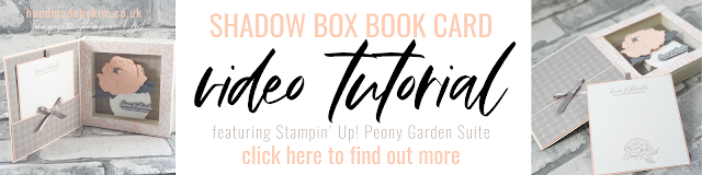 Stampin' Up! Peony Garden Shadow Box Book Card Tutorial