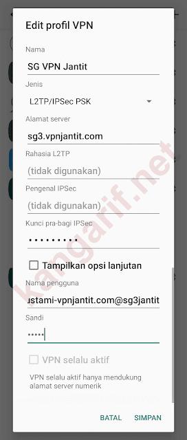 edit profil vpn
