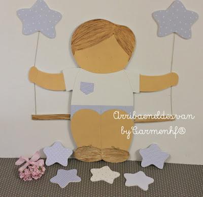 silueta infantil decoración niño columpio