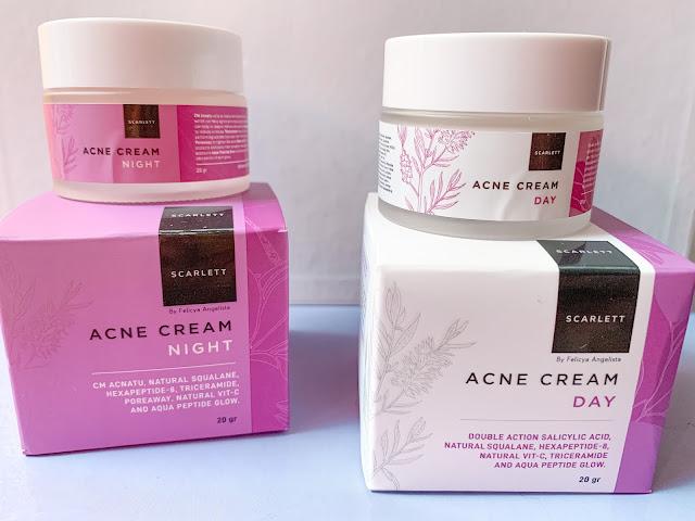 review scarlett acne day & night cream