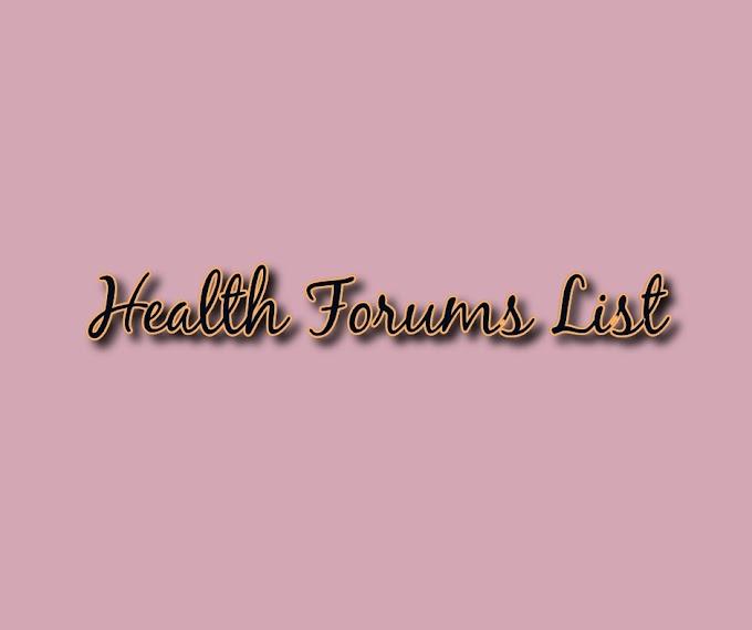 Top 20 health forum sites list