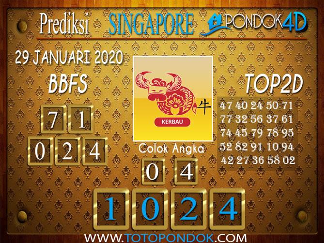Prediksi Togel SINGAPORE PONDOK4D 28 JANUARI 2020