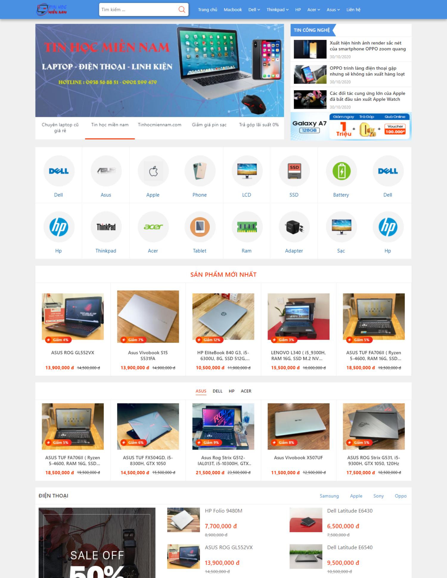 Theme blogspot bán laptop, máy tính, điện thoại (VSM39)
