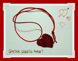 Valentine shrink heart necklace