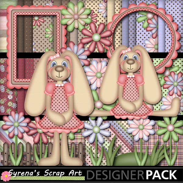 Country Bunnies Digital Scrapbook Kit