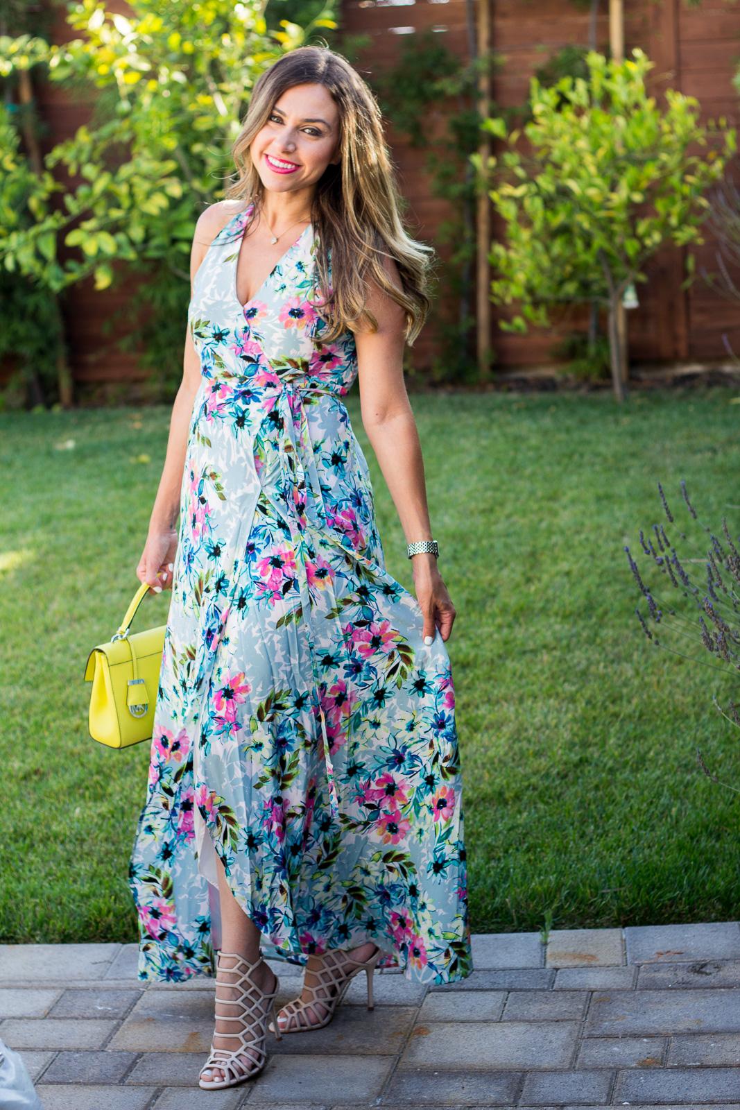 yumi kim rush hour floral print maxi dress