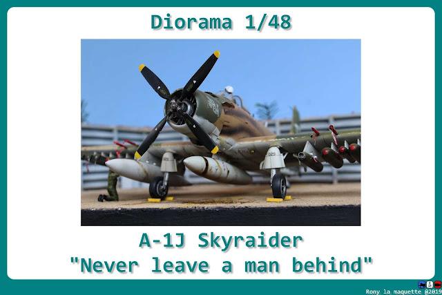 Diorama A-1J Skyraider de Tamiya 1/48.