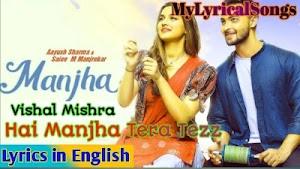 Hai Manjha Tera Tezz Lyrics - Vishal Mishra