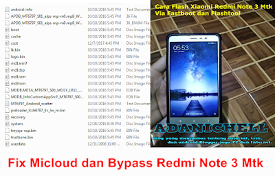 Fix Micloud dan Bypass Redmi Note 3 Mtk