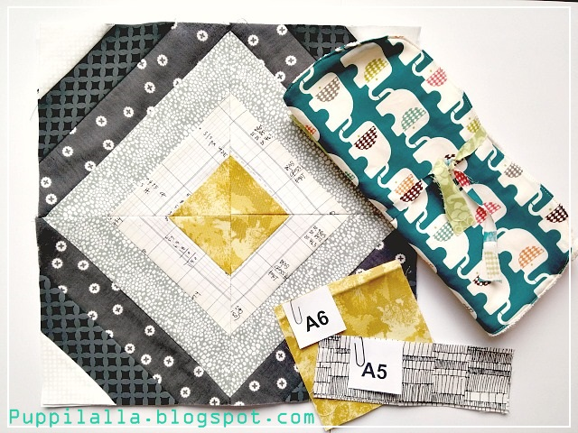 Bee Block, Quilting Bee, Puppilalla, free pattern
