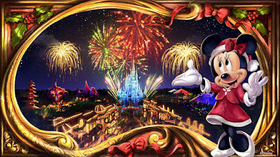 Minnie's Wonderful Christmastime Fireworks Magic Kingdom 2019