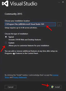 Proses Penginstallan Visual Studio 2015 Community Edition