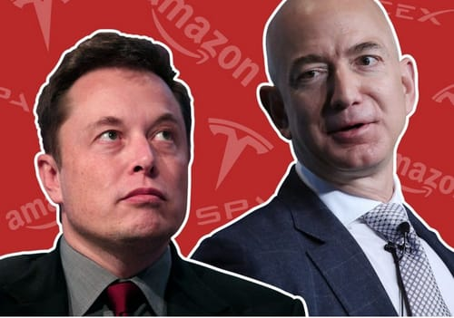 The satellites sparked an argument between Musk and Bezos