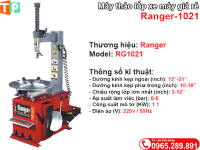 Máy tháo lốp xe máy giá rẻ Ranger