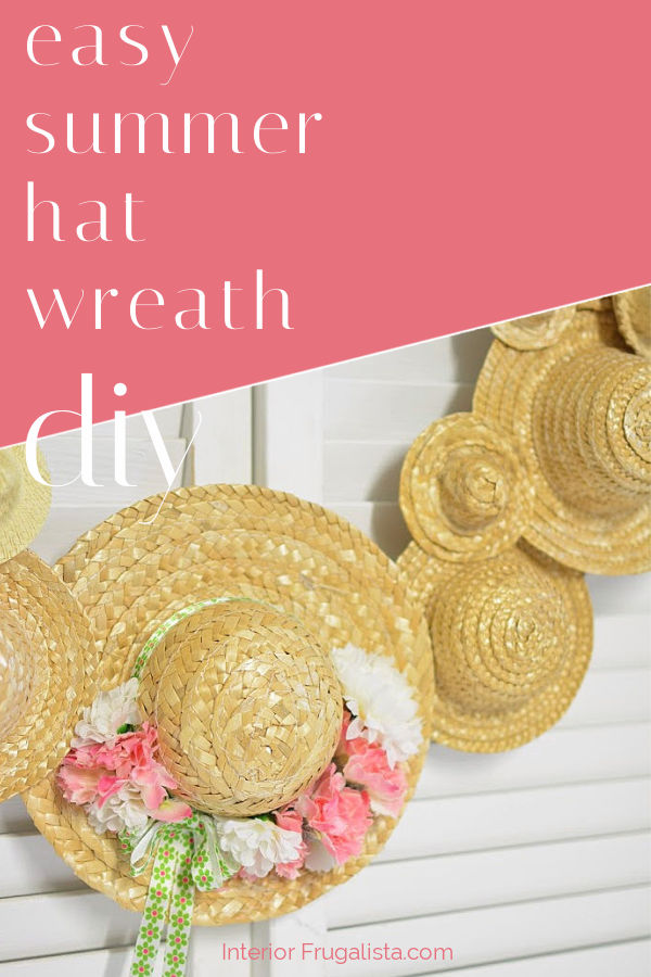 Easy Summer Hat Wreath DIY
