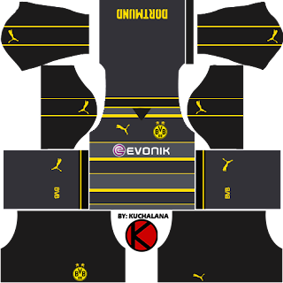 Borussia Dortmund 2016/17 - Dream League Soccer Kits and FTS15