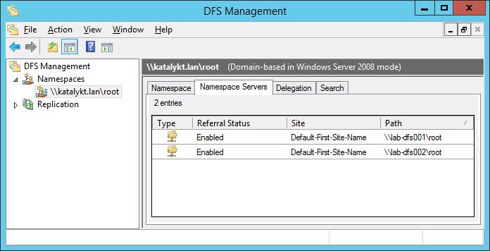 Katalykt: Deploying an High-Availability Domain-Based DFS Namespace