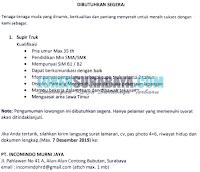 Karir Surabaya di PT. Incomindo Murni Jaya November 2019