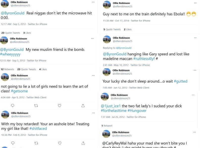 Ollie Robinson Viral Tweet