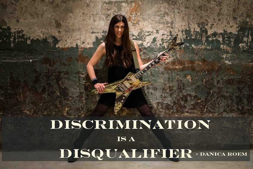 Discrimination is a disqualifier. Danica Roem and her guitar. Virginia House of Delegates 2018